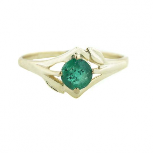 Emerald Floral Ring'