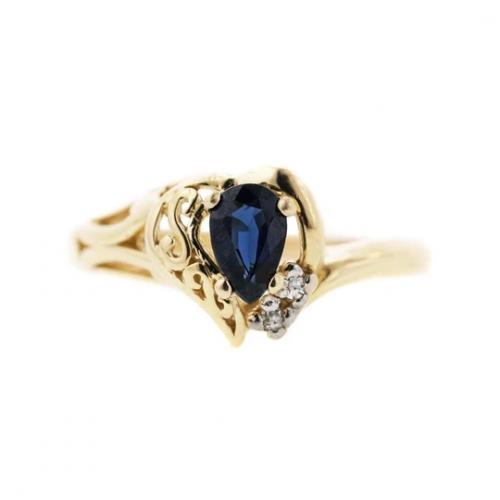 Sapphire and Diamond Ring'