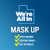 We're All In - mask up'