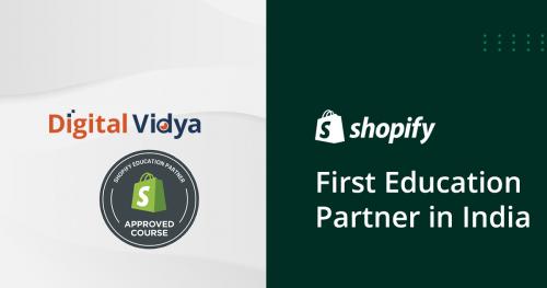 Digital Vidya Shopify Education Partner'
