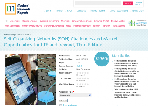 self organizing networks market opportunities forecast and The global non-invasive prenatal testing  of the market with the help of informed market outlook, opportunities  (self-organizing networks) in the.