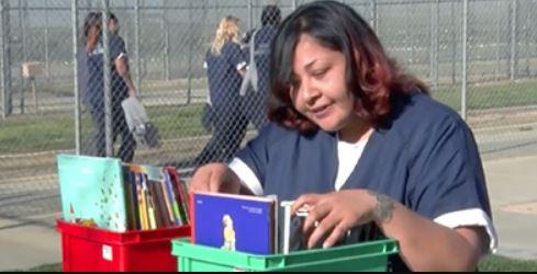 Inmate reading book 2'