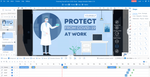 animated explainer video software-covid19 template'