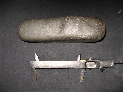 Dr. Joel Klenck: Stone pestle, Artifact 29, Interior, Ark'