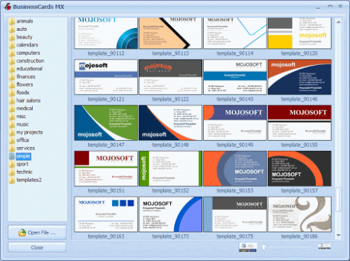Business Card Software'