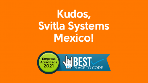 Svitla Systems Mexico is awarded Best Place To Code for the'