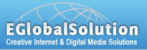 Logo for eglobal solution'