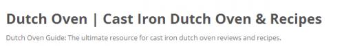 cast iron dutch oven'