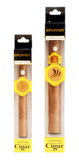 ePuffer Electronic Cigar D1800 and D500 Package