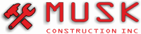 MUSK Construction Kitchen and Bathroom Remodeling Mountain View Logo