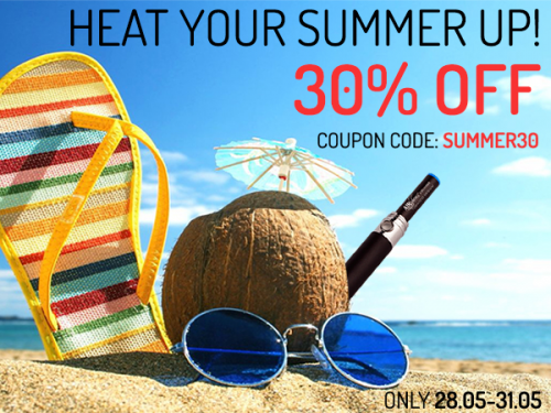 30% OFF on All electronic cigarettes'