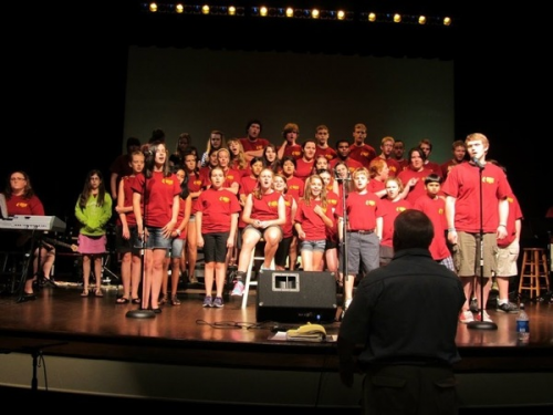 Crossflame Youth Choir and Orchestra Helps in Super Storm Sa'