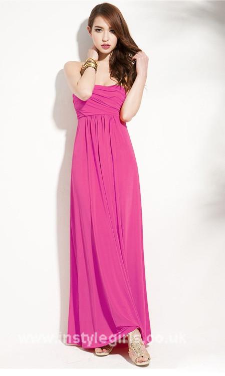 Strapless Pink Long Dress'
