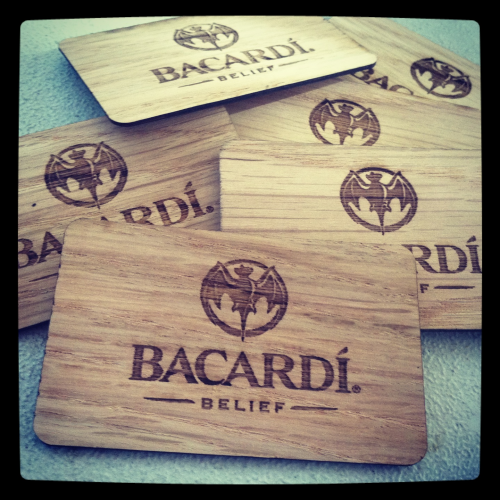 Bacardi Limited Wooden Business Cards'