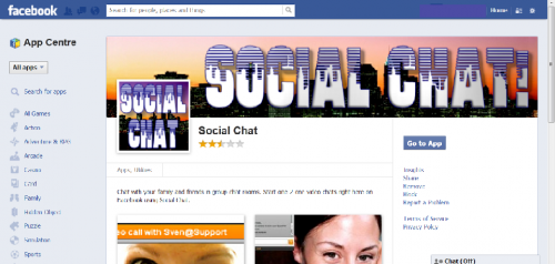 Facebook Chat Room'