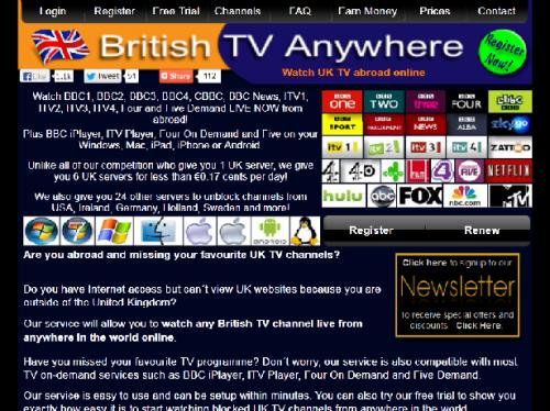 British TV Anywhere'