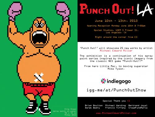 "Michael Miller ""Punch Out"" Art Exhibit at Opulen S'"