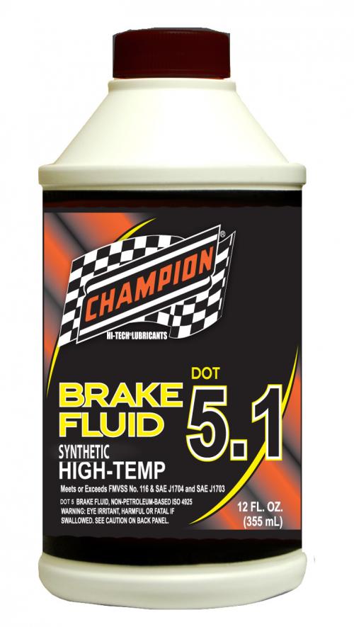 Champion Offers DOT 5.1 Brake Fluid'