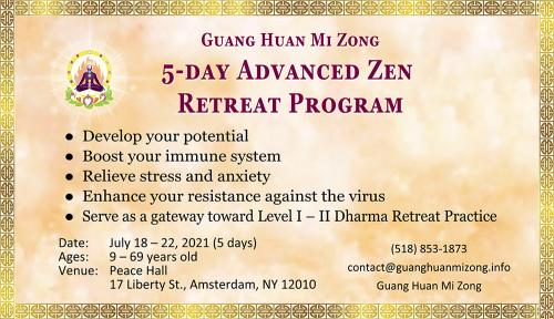 5-day Advanced Zen Retreat Program'