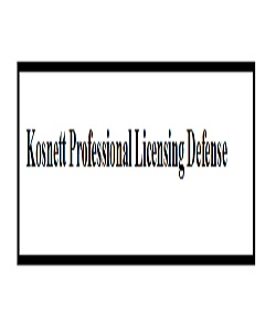 Company Logo For Kosnett Professional Licensing Defense'