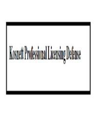 Kosnett Professional Licensing Defense Logo