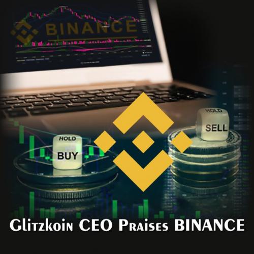 Glitzkoin CEO Praises Binance'