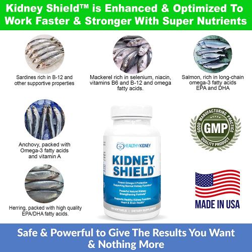 Kidney Shield Optimized Omega 3 Kidney Supplement For Suppor'