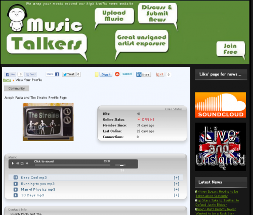 Music Talkers Profile'