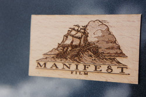 Manifest Film - Wooden Business Card - Laser Engraved'