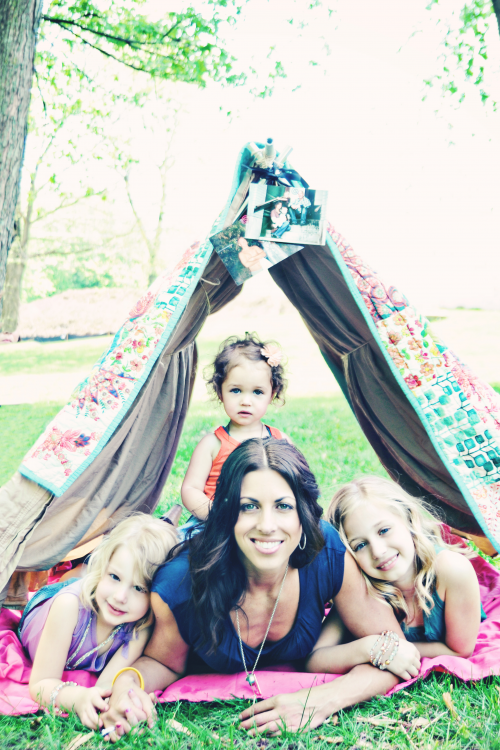 Jodie and her three beautiful daughters'