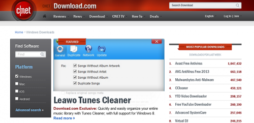 Leawo Tunes Cleaner premiered exclusively on CNET'
