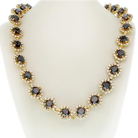 The Black Diamond Halo Necklace'
