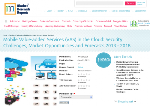 Mobile Value-added Services (VAS) in the Cloud'