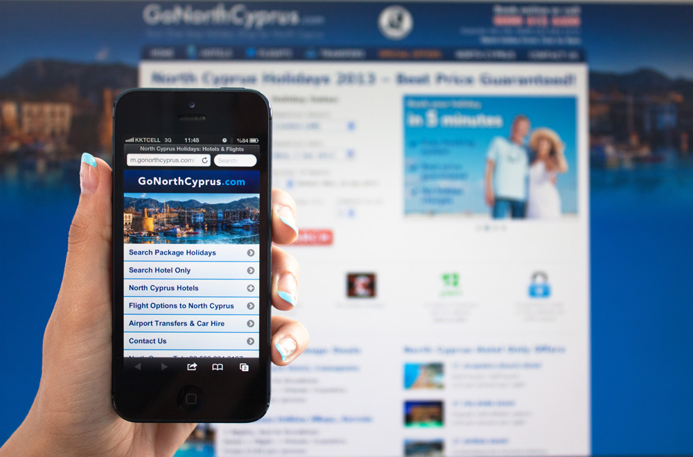 Go North Cyprus mobile website