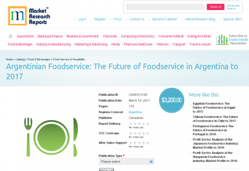Argentinian Foodservice: The Future of Foodservice in Argent'