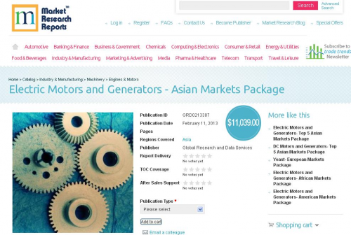 Electric Motors and Generators - Asian Markets Package'