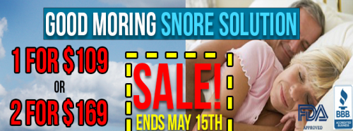 Good Morning Snore Solution Discount and Trial offers'