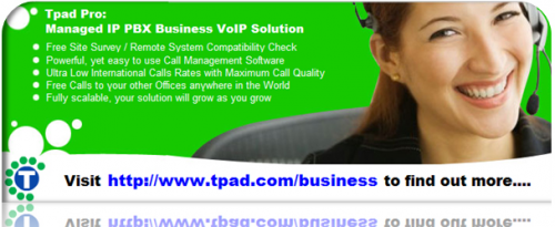 Tpad PRO - Managed IP PBX Business VoIP Solution'