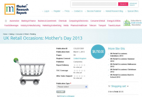 UK Retail Occasions: Mother's Day 2013 reserch report'