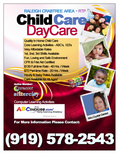 Raleigh Day Care & Child Care Service Affordable, Conven'