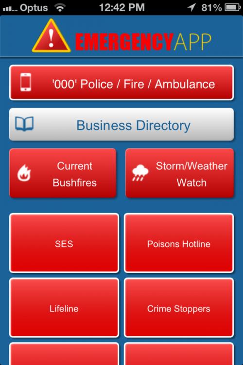 The Emergency App'