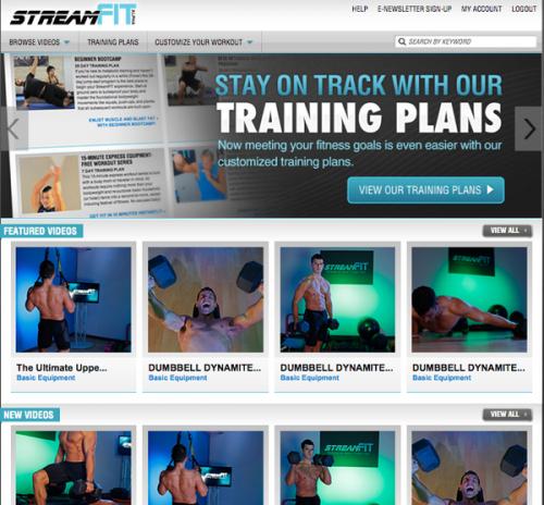 StreamFIT screenshot'