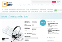 Online Marketing in India 2013