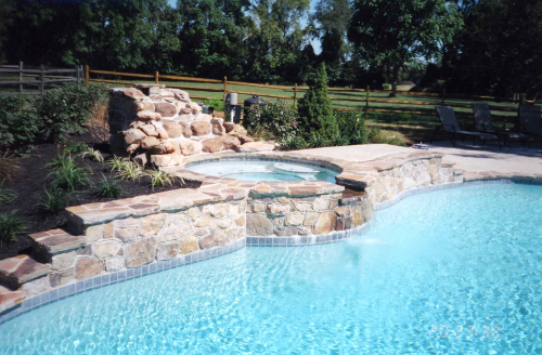 Landscaping - Pool features'