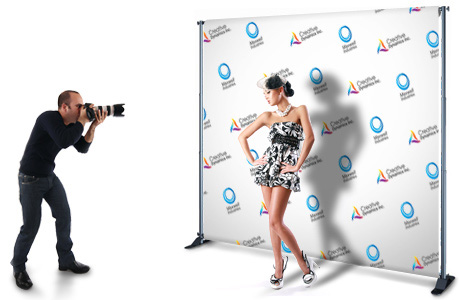 Step and Repeat banner'
