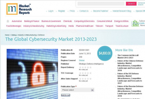 The Global Cybersecurity Market 2013-2023'