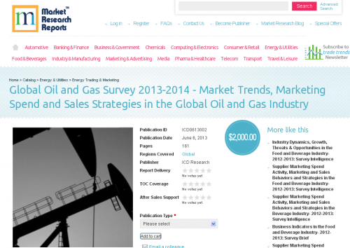 Global Oil and Gas Survey 2013-2014 Marketing Spend'