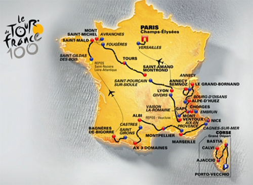 2013 Tour de France Route Revealed'
