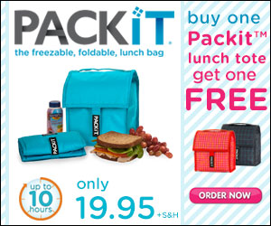 PackIt Freezable Lunch Bags As Seen on TV Canada'