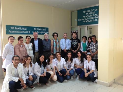 Dr. Devra Davis and students at Samsun University'